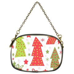 Christmas design - green and red Chain Purses (Two Sides)