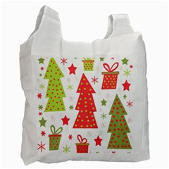 Christmas design - green and red Recycle Bag (One Side)