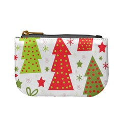 Christmas design - green and red Mini Coin Purses