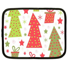 Christmas design - green and red Netbook Case (XL)