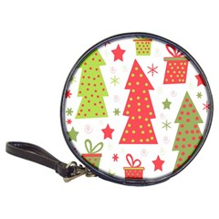 Christmas design - green and red Classic 20-CD Wallets