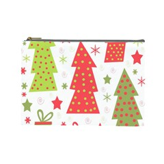 Christmas design - green and red Cosmetic Bag (Large)