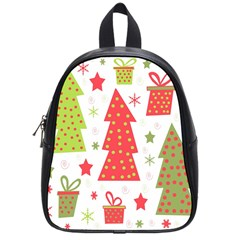 Christmas design - green and red School Bags (Small)