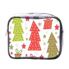 Christmas design - green and red Mini Toiletries Bags