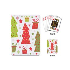 Christmas design - green and red Playing Cards (Mini)