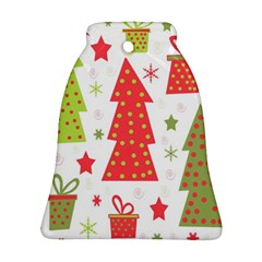 Christmas design - green and red Bell Ornament (2 Sides)