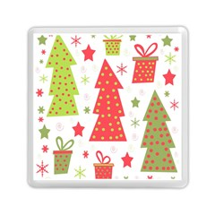 Christmas design - green and red Memory Card Reader (Square)