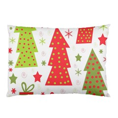 Christmas design - green and red Pillow Case (Two Sides)