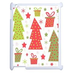 Christmas design - green and red Apple iPad 2 Case (White)