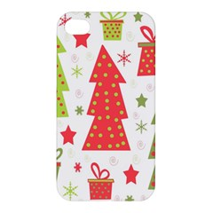 Christmas design - green and red Apple iPhone 4/4S Hardshell Case