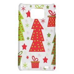 Christmas design - green and red Samsung Galaxy S2 i9100 Hardshell Case