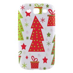 Christmas design - green and red Samsung Galaxy S III Hardshell Case