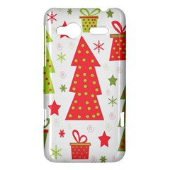 Christmas design - green and red HTC Radar Hardshell Case