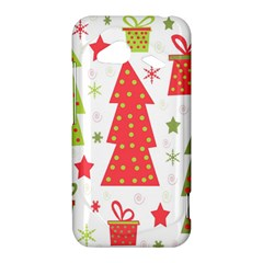 Christmas design - green and red HTC Droid Incredible 4G LTE Hardshell Case