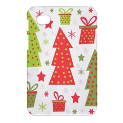 Christmas design - green and red Samsung Galaxy Tab 7  P1000 Hardshell Case