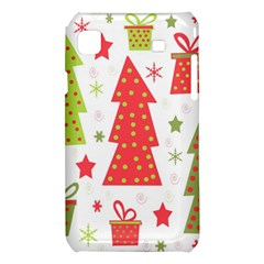 Christmas design - green and red Samsung Galaxy S i9008 Hardshell Case