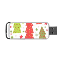 Christmas design - green and red Portable USB Flash (Two Sides)