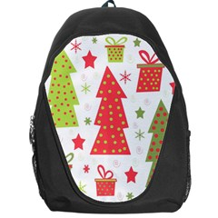 Christmas design - green and red Backpack Bag