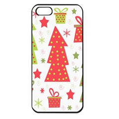 Christmas design - green and red Apple iPhone 5 Seamless Case (Black)