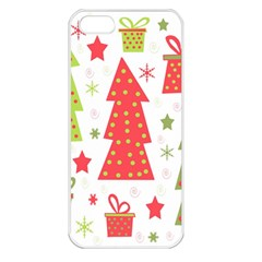 Christmas design - green and red Apple iPhone 5 Seamless Case (White)