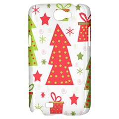 Christmas design - green and red Samsung Galaxy Note 2 Hardshell Case