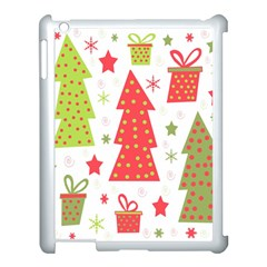 Christmas design - green and red Apple iPad 3/4 Case (White)