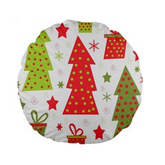 Christmas design - green and red Standard 15  Premium Round Cushions