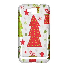 Christmas design - green and red Samsung Ativ S i8750 Hardshell Case