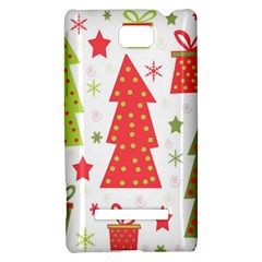 Christmas design - green and red HTC 8S Hardshell Case