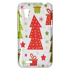 Christmas design - green and red HTC Desire VT (T328T) Hardshell Case