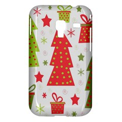 Christmas design - green and red Samsung Galaxy Ace Plus S7500 Hardshell Case