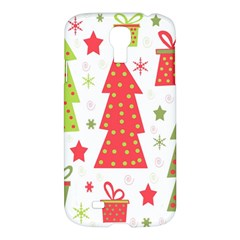 Christmas design - green and red Samsung Galaxy S4 I9500/I9505 Hardshell Case