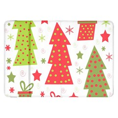 Christmas design - green and red Samsung Galaxy Tab 8.9  P7300 Flip Case