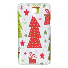 Christmas design - green and red Sony Xperia T