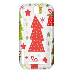 Christmas design - green and red HTC One SV Hardshell Case
