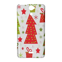 Christmas design - green and red Sony Xperia V
