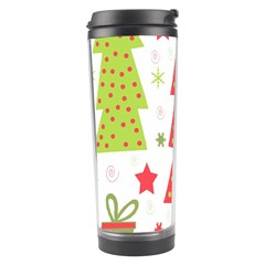 Christmas design - green and red Travel Tumbler