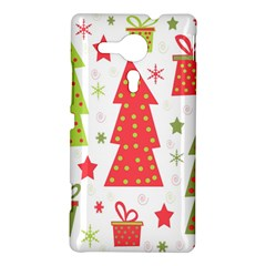 Christmas design - green and red Sony Xperia SP