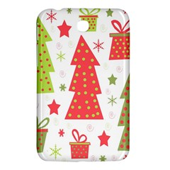 Christmas design - green and red Samsung Galaxy Tab 3 (7 ) P3200 Hardshell Case