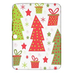 Christmas design - green and red Samsung Galaxy Tab 3 (10.1 ) P5200 Hardshell Case