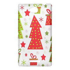 Christmas design - green and red Sony Xperia C (S39H)