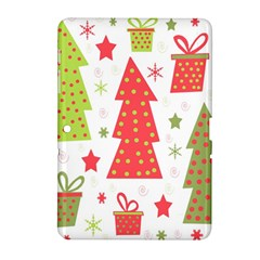 Christmas design - green and red Samsung Galaxy Tab 2 (10.1 ) P5100 Hardshell Case