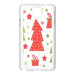 Christmas design - green and red Samsung Galaxy Note 3 N9005 Case (White)