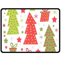 Christmas design - green and red Double Sided Fleece Blanket (Large)