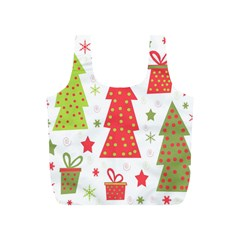 Christmas design - green and red Full Print Recycle Bags (S)
