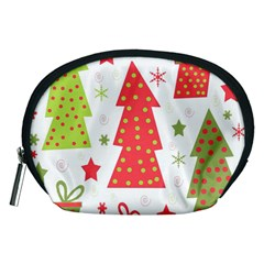 Christmas design - green and red Accessory Pouches (Medium)