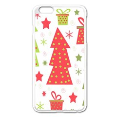 Christmas design - green and red Apple iPhone 6 Plus/6S Plus Enamel White Case