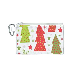 Christmas design - green and red Canvas Cosmetic Bag (S)