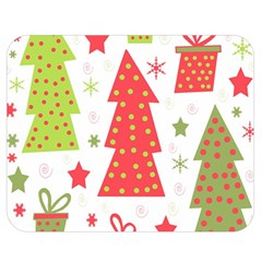 Christmas design - green and red Double Sided Flano Blanket (Medium)
