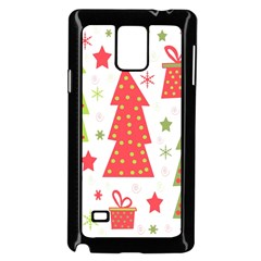 Christmas design - green and red Samsung Galaxy Note 4 Case (Black)